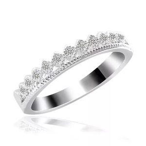 Silver Crown Women Ring
